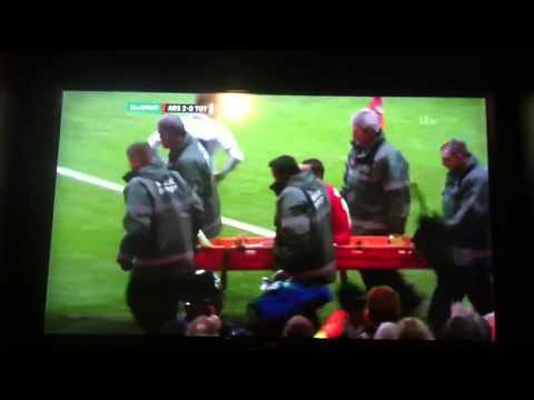 Theo Walcott mocking spurs fans arsenal vs Tottenham 2014