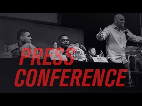 UFC Press Conference: Bisping vs St-Pierre