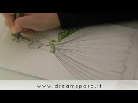 Abito da sposa romantico 02 disegno abiti da sposa for Immagini di cavalli da disegnare