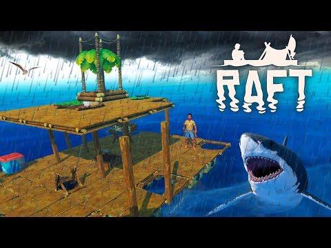 ПОПАЛИ В ШТОРМ и ВЫРАСТИЛИ ПАЛЬМУ! Опасное ВЫЖИВАНИЕ в ОКЕАНЕ с Funny Games TV Игра RAFT #5