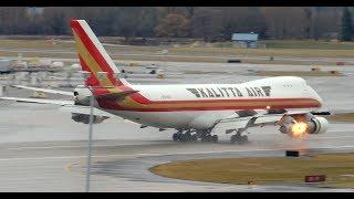*RARE* Kalitta Air Boeing 747-200F [N704CK] landing in PDX
