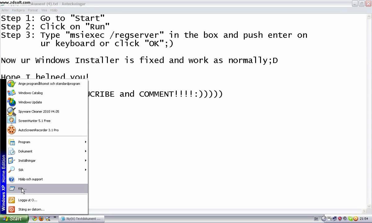 how to solve windows installer problem