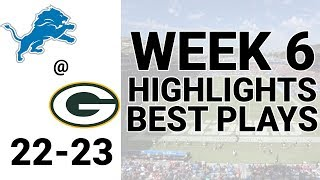 Lions vs Packers Highlights Week 6 | NFL 2019