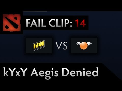 Dota 2 TI3 Fail - Clip 14 - kYxY Aegis Denied