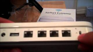 Unboxing of the Apple Airport Extreme 802.11n (2011 model- 5th generation)