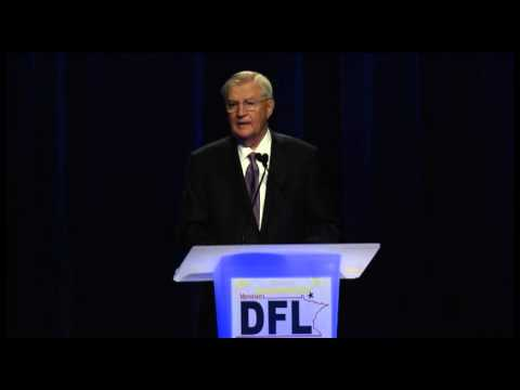 Vice President Walter Mondale speaking at the First Annual Humphrey-Mondale Dinner