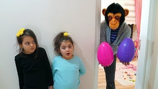 Surprise Toys in our Bedroom Pretend Play Funny Kids Video