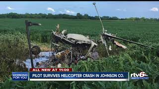 Pilot escapes after helicopter crashes in field near Franklin airport