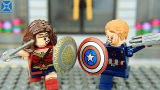 LEGO Avengers vs Justice League Vol 3► Wonder Woman vs Captain America