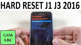 HARD RESET Samsung Galaxy J1, J3 (2016) |How to Reset to Factory Settings