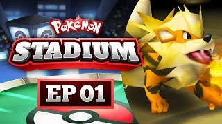 Pokemon Stadium Lets Play #01 - GETTING ABSOLUTELY BLOWN BACK!!