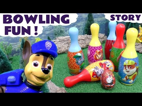 Paw Patrol Bowling Surprise Eggs Fun Toys Play | Justice League Minions Thomas & Peppa Pig Surprises