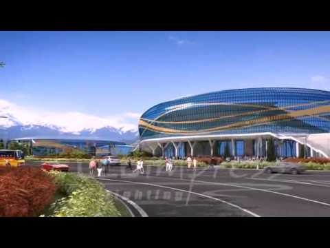 Проект архитектурного освещения Ледового дворца. г.Алматы