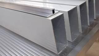 Cobertura de vidro com os perfis de alumínio estrutural T invertido da Polysolution