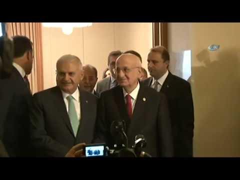 TBMM Başkanı Kahraman, Başbakan Binali Yıldırım'ı Ziyaret Etti