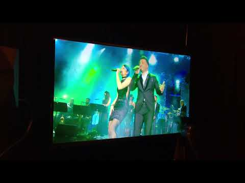 Allison Iraheta duet with Luis Fonsi at Grammy Party