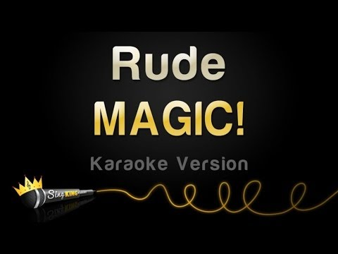 Magic! - Rude (Karaoke Version)