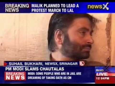 Yasin Malik detained by police in Srinagar