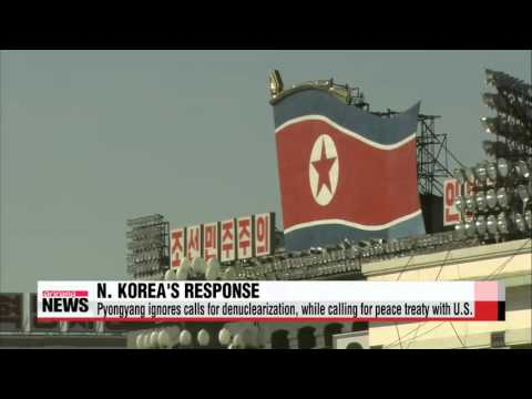 North Korea ignores South Korea-U.S. summit, while calling for peace treaty with