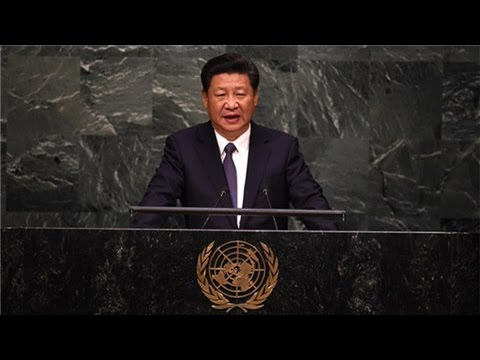President Xi delivers speech at UNGA