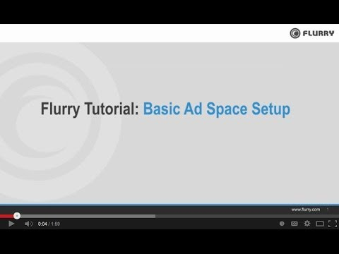 Flurry for Publishers: Basic Ad Space Setup