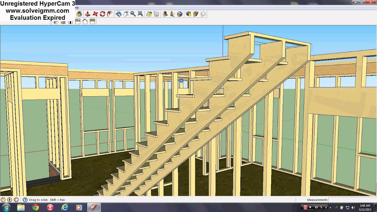 Sketchup frame building construction youtube A frame builders