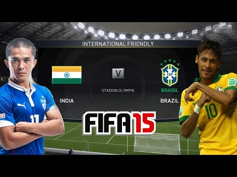 FIFA 15 (PS4) INDIA vs BRAZIL [Hindi commentary] Gameplay