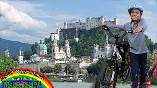 Sound of Music Bike Ride with Gaby Monster!  Salzburg Family Fun! Travel Review with Gaby Monster!