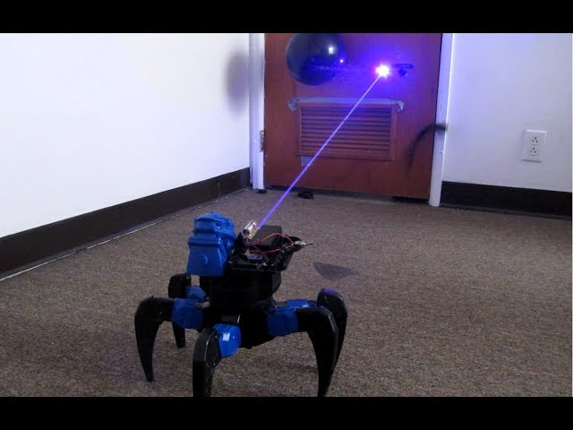 play video: Homemade Death Ray Laser DRONE BOT!!! Remote Controlled!!