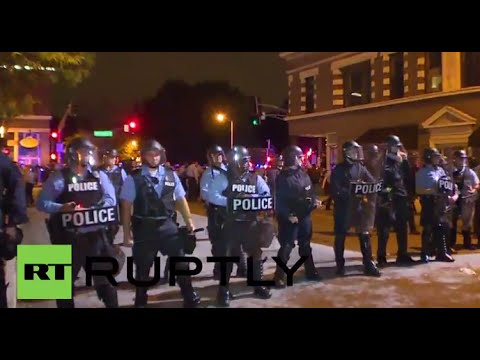 LIVE: Ferguson protests continue after killing of black teen