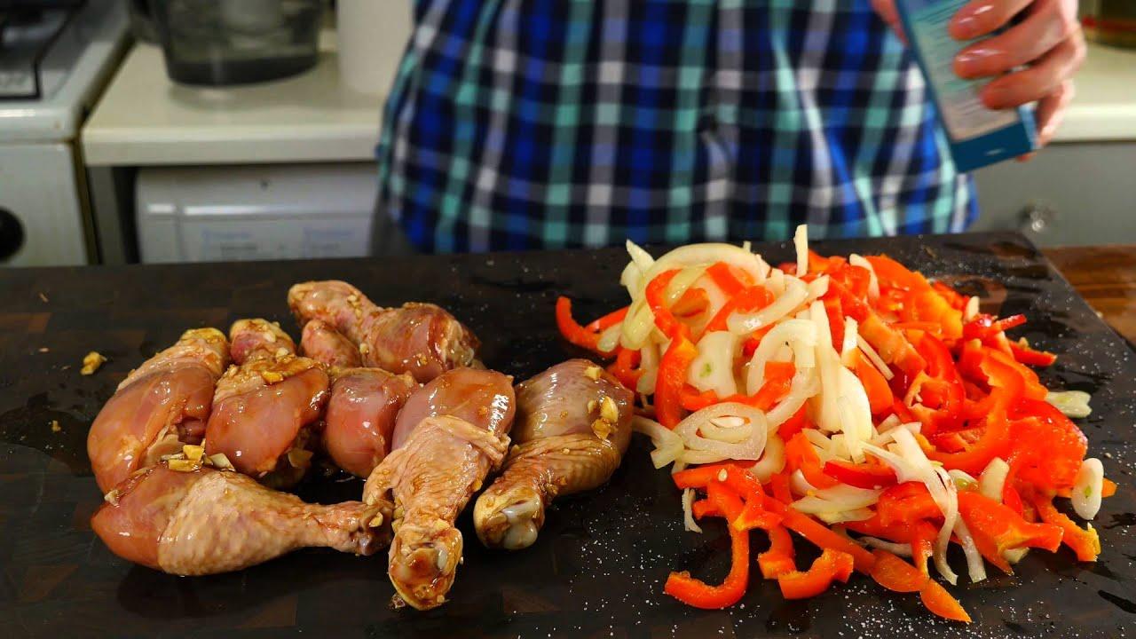 Куриные голени с овощами рецепт
