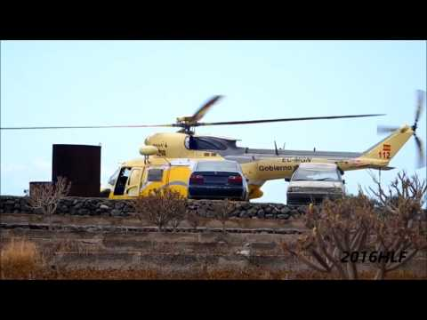 300 ABO SPECIAL Ambulancia Helicopter (RTH) PZL W-3 Sokol Take off at tenerife