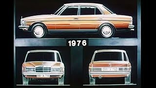 1976 Mercedes-Benz w123 development - design, testing, pre-production
