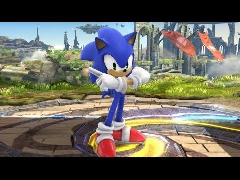 Super Smash Bros. 4 - Sonic Trailer