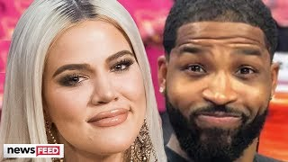 Khloe Kardashian DODGES Kiss From Tristan At True's First Birthday & Kanye Shades Tristan!