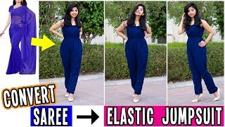 Convert Old Saree Into Elastic Jumpsuit With No Zipper in Just 10 Minutes