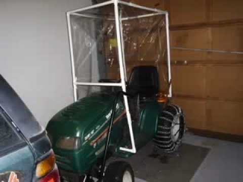 Home Made Tractor Cab On A Mtd Youtube