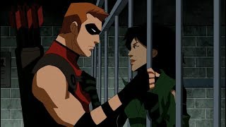 Young Justice Season 1 & 2  Cheshire & Red Arrow All Moments
