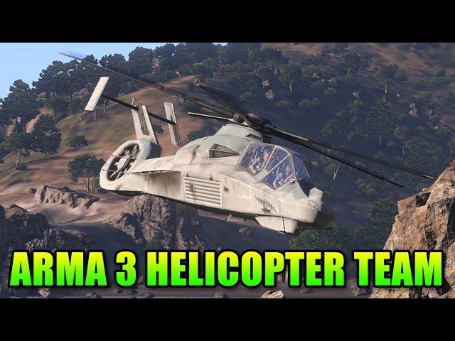 Arma 3 AH-99 Blackfoot Helicopter - Pilot & Gunner Teamwork   Dual Vision Gameplay