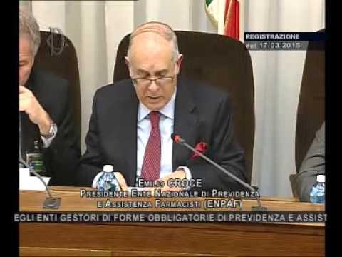 Roma - Audizione Presidente Previdenza Farmacisti, Croce e Lazzaro (17.03.15)