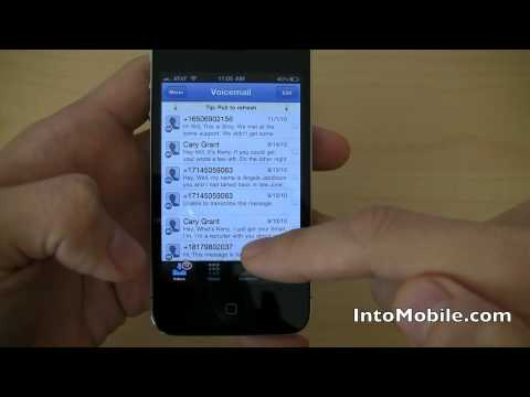 Google Voice official app for iPhone video demo