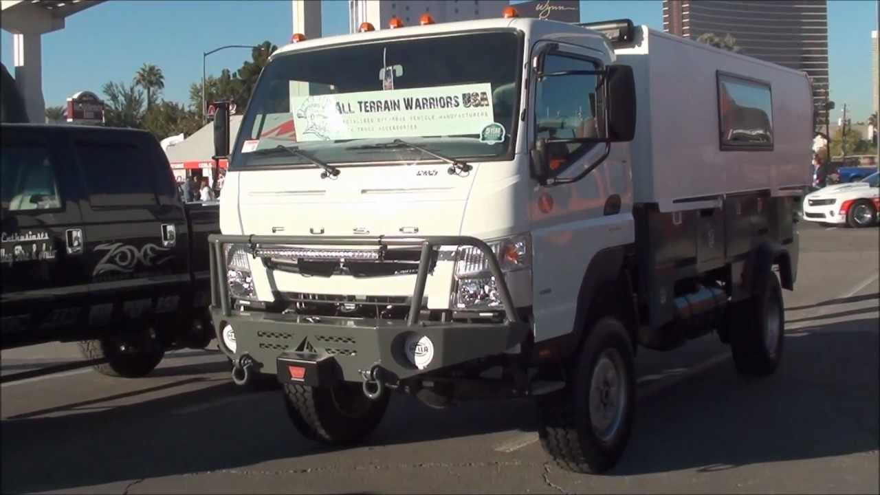 SEMA 2012 Fuso 4x4 expiditionary vehicle - YouTube