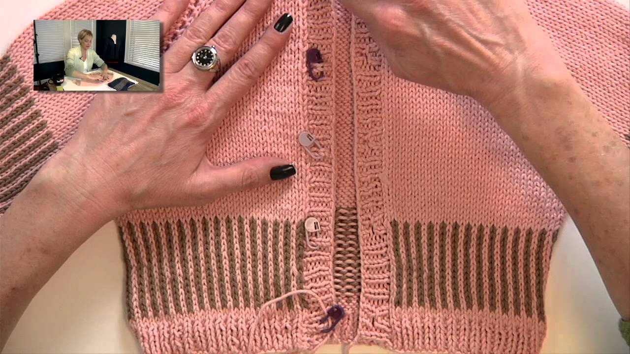 Knitting Help : Knitting Help - Placing Buttons - YouTube