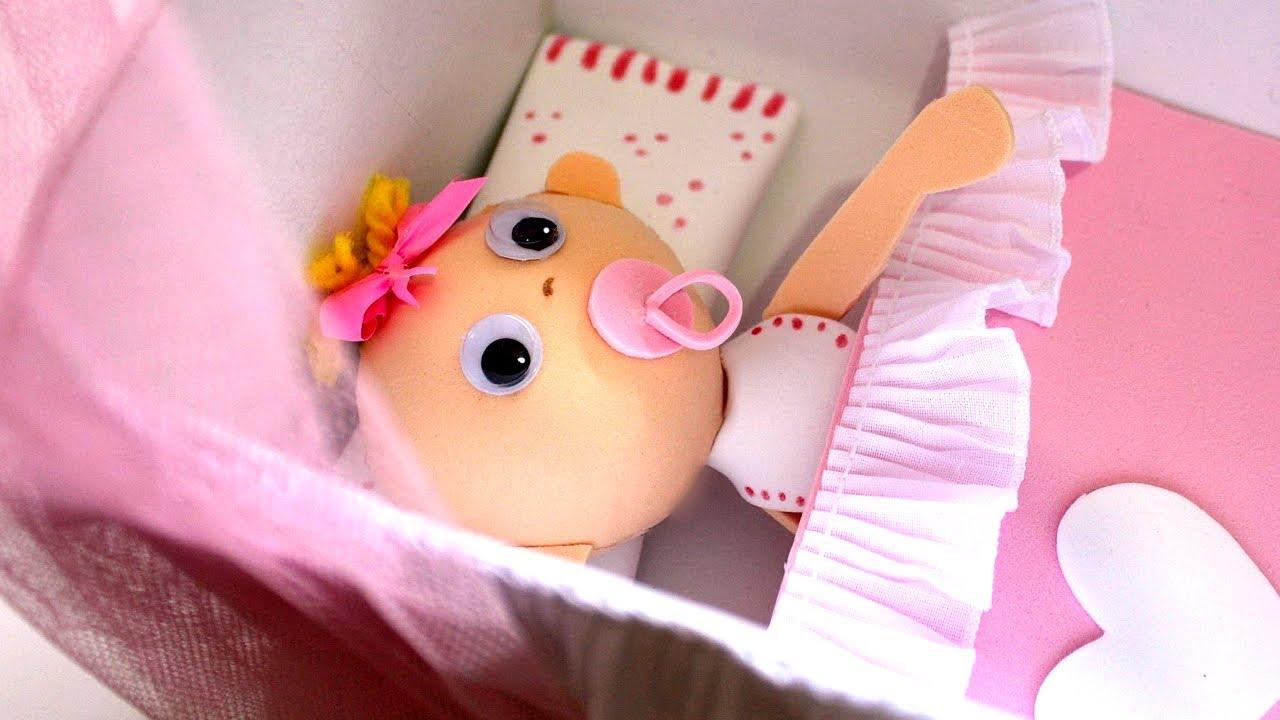 Fofucha bebe con cuna de foamy o goma eva youtube - Cunitas para bebe ...