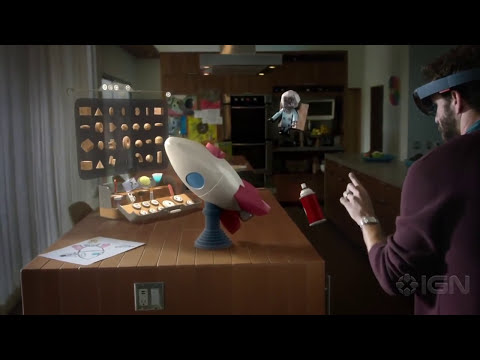 Microsoft HoloLens Demonstration Shows off Holographic Minecraft, Apps, and More