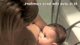 Breastfeeding in the bathtub