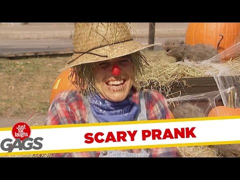 Halloween Scarecrow Prank - Madárijesztő