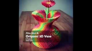 3d Origami Colorful Vase