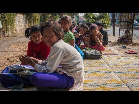 Delhi's Street Children getting courses on the street!