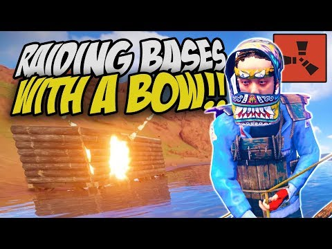 HOW TO RAID BASES WITH JUST A BOW! - Rust Solo Survival Gameplay